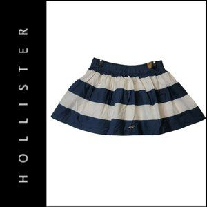 Hollister Women Puff Stripe With Line Short Skirt